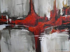 'Abstracto en gris'- Gabriela Mensaque festménye