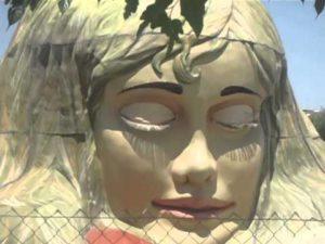"""Mujer Gigante"" (""Óriáslány"") a torrejóni Európa Parkban."
